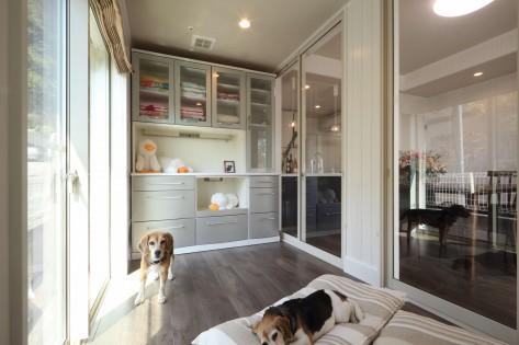 3.愛犬のスペースは、洗濯物を干したり